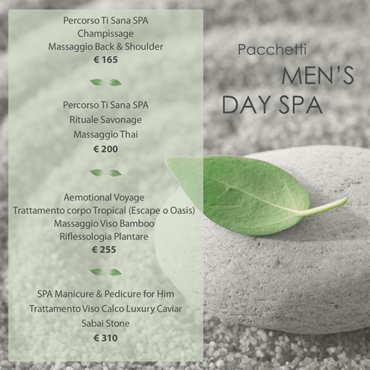 Day Spa For Men